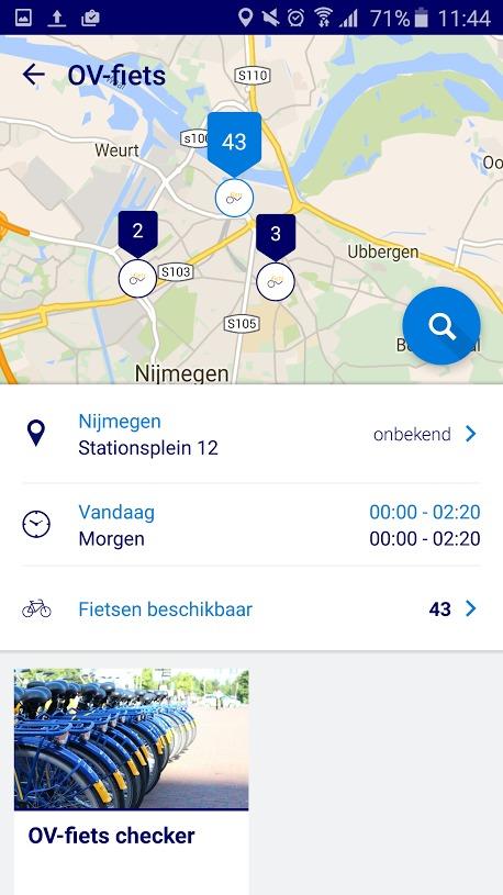 Vind een OV-fiets met NS Reisplanner Xtra Services
