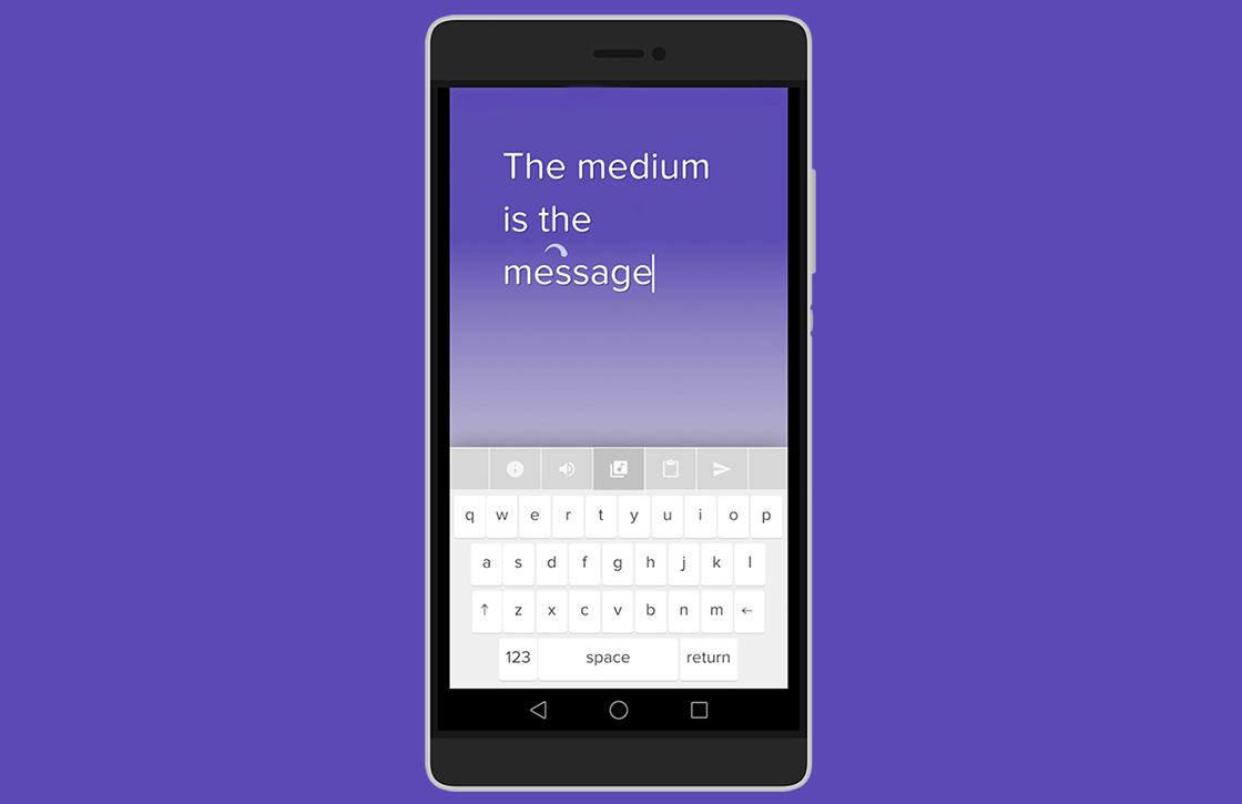 Met deze Android-app maak je muziek terwijl je typt