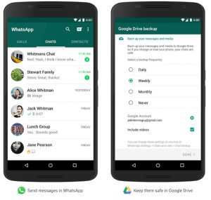WhatsApp Googlr Drive