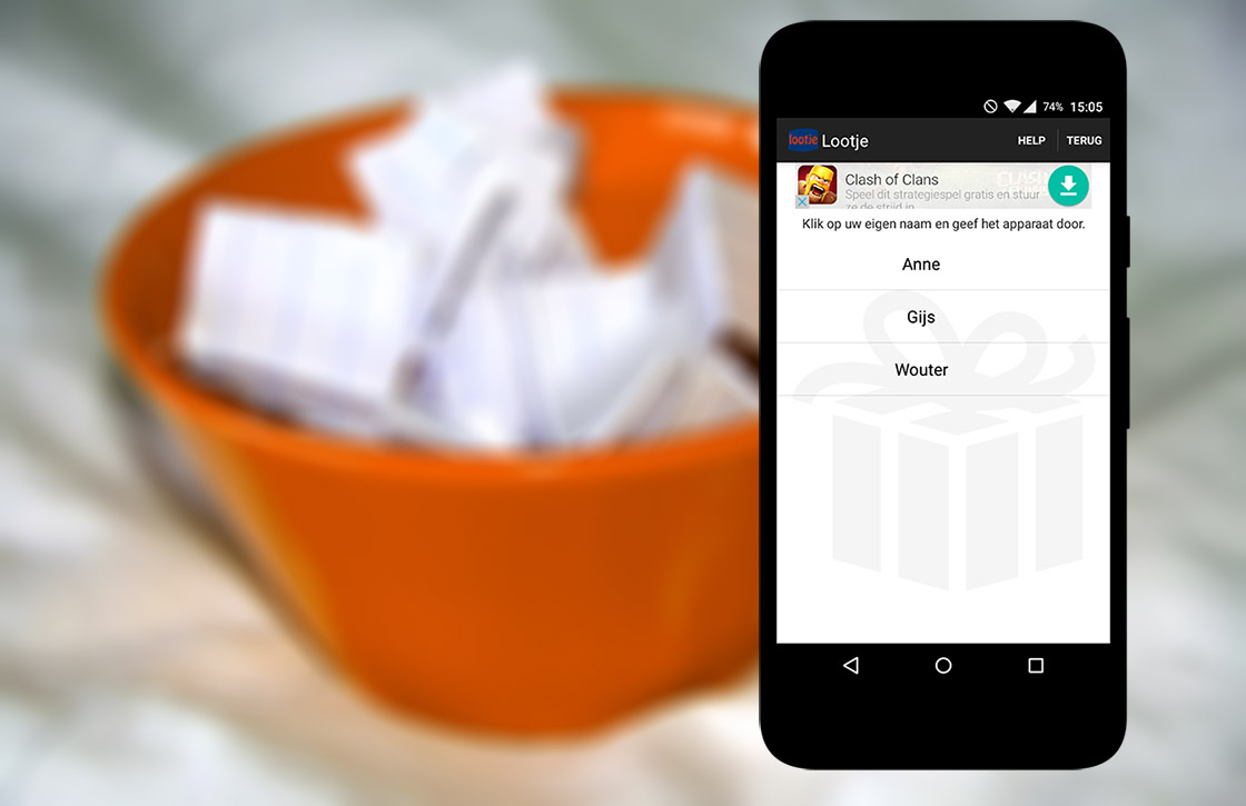 Tip van de Sint: lootjes trekken met je Android-toestel