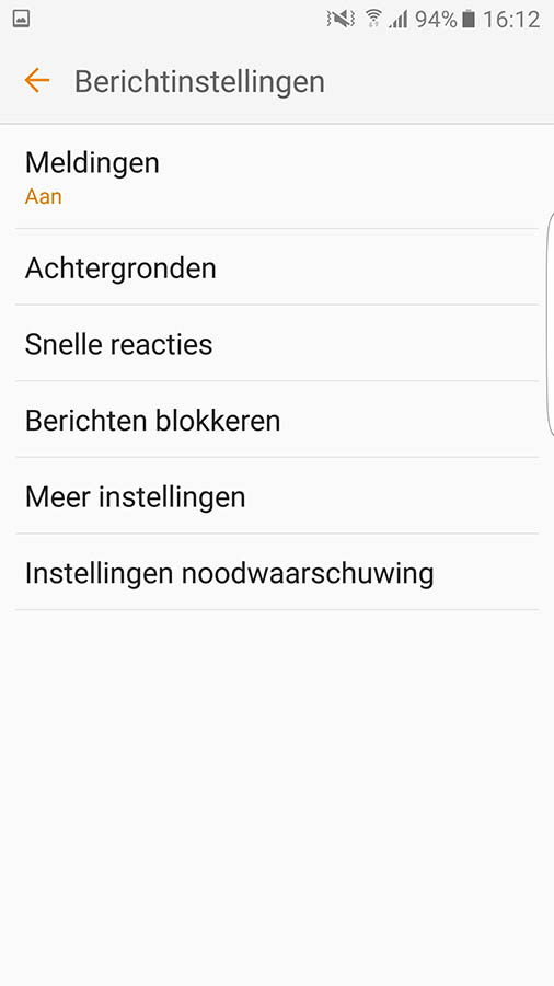 nl alert android