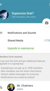 telegram-groepsgesprek
