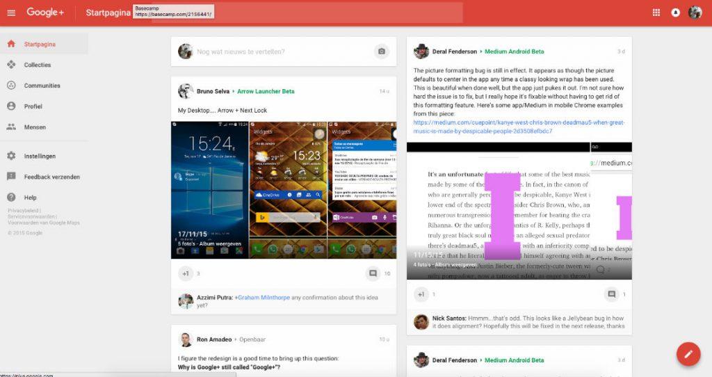vernieuwde Google+