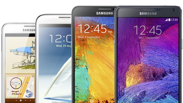 Galaxy Note serie beste phablets