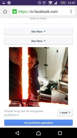 Lightsaber Facebook-profielfoto