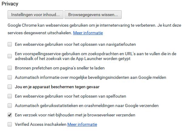 Chromebook privacy