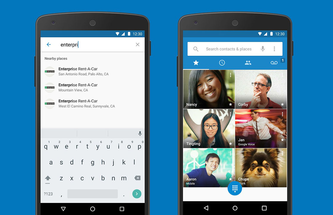 Telefoon- en Contacten-app van Google nu in de Play Store