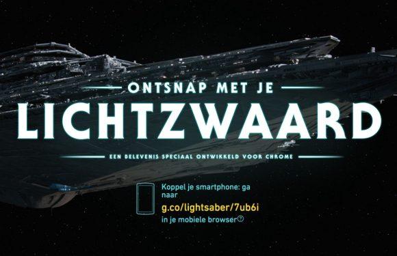 Gebruik je smartphone als lightsaber in deze Star Wars-webgame