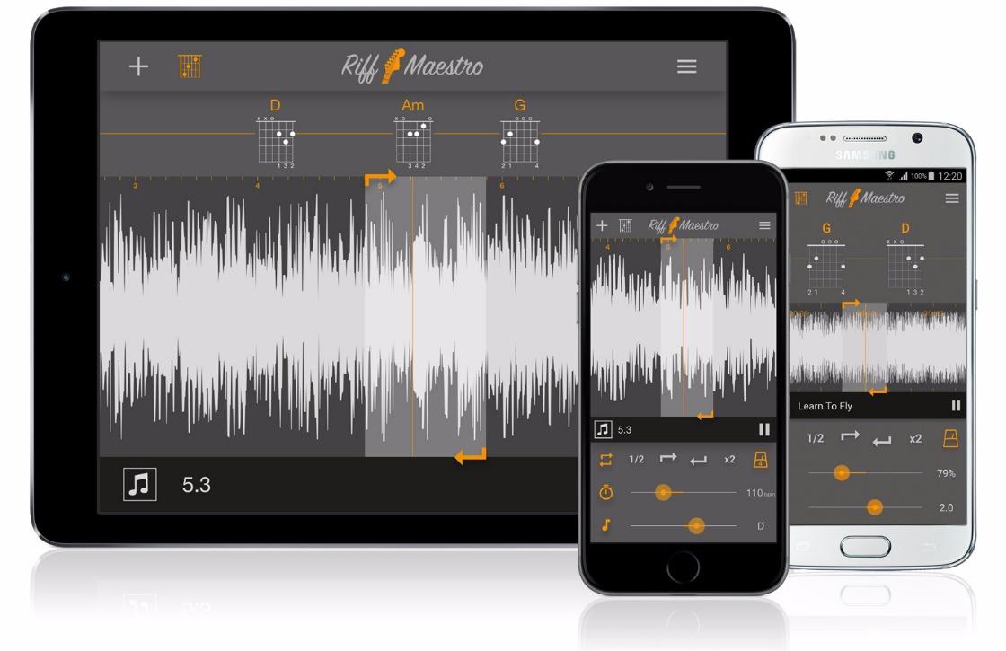 Leer (beter) gitaarspelen met Android-app Riff Maestro