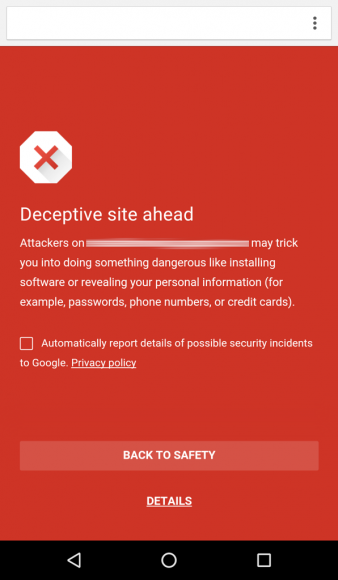 safe browsing voor android