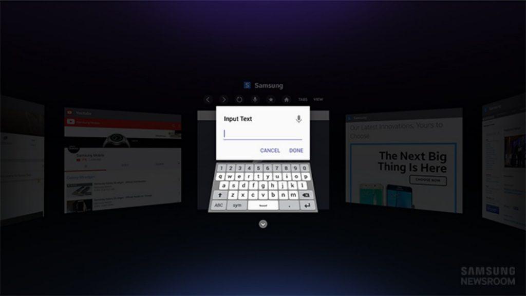 samsung gear vr webbrowser