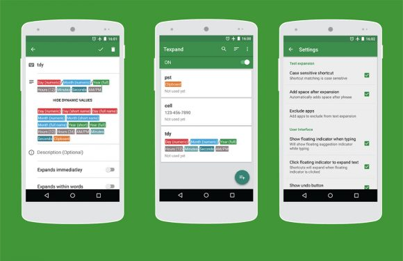 Texpand: slimme Android-app om sneller te typen