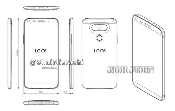LG G5 ontwerp