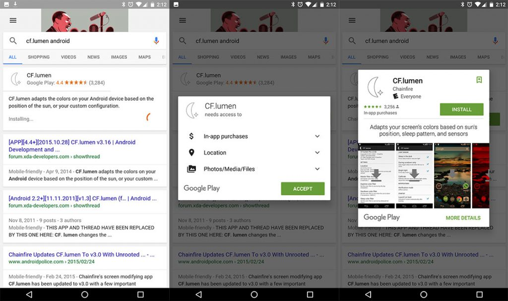apps via de zoekmachine