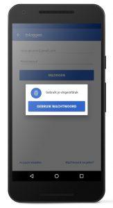 bol.com-app vingerafdruk