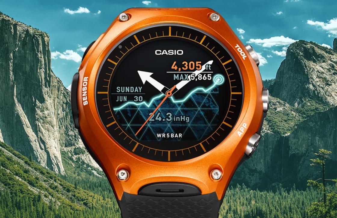 Casio introduceert Android Wear-horloge met bijzonder scherm