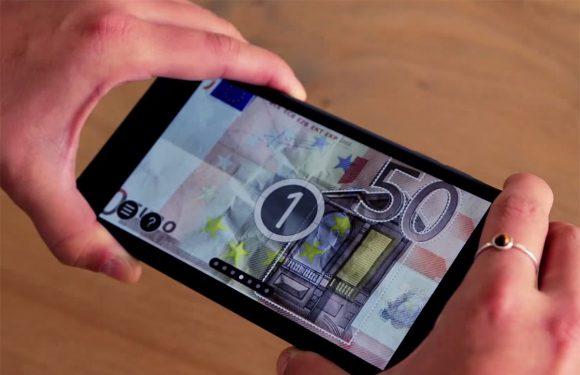 Echt of Vals: app om bankbiljetten te controleren nu voor Android