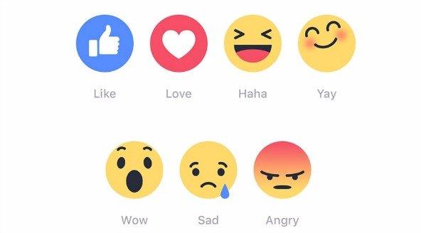 facebook reactions vind ik leuk