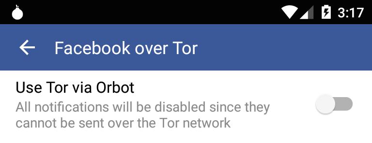 facebook tor-ondersteuning