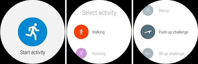 Google Fit activiteiten