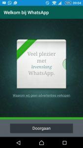 WhatsApp actief gebruik