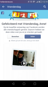 Facebook vriendendag