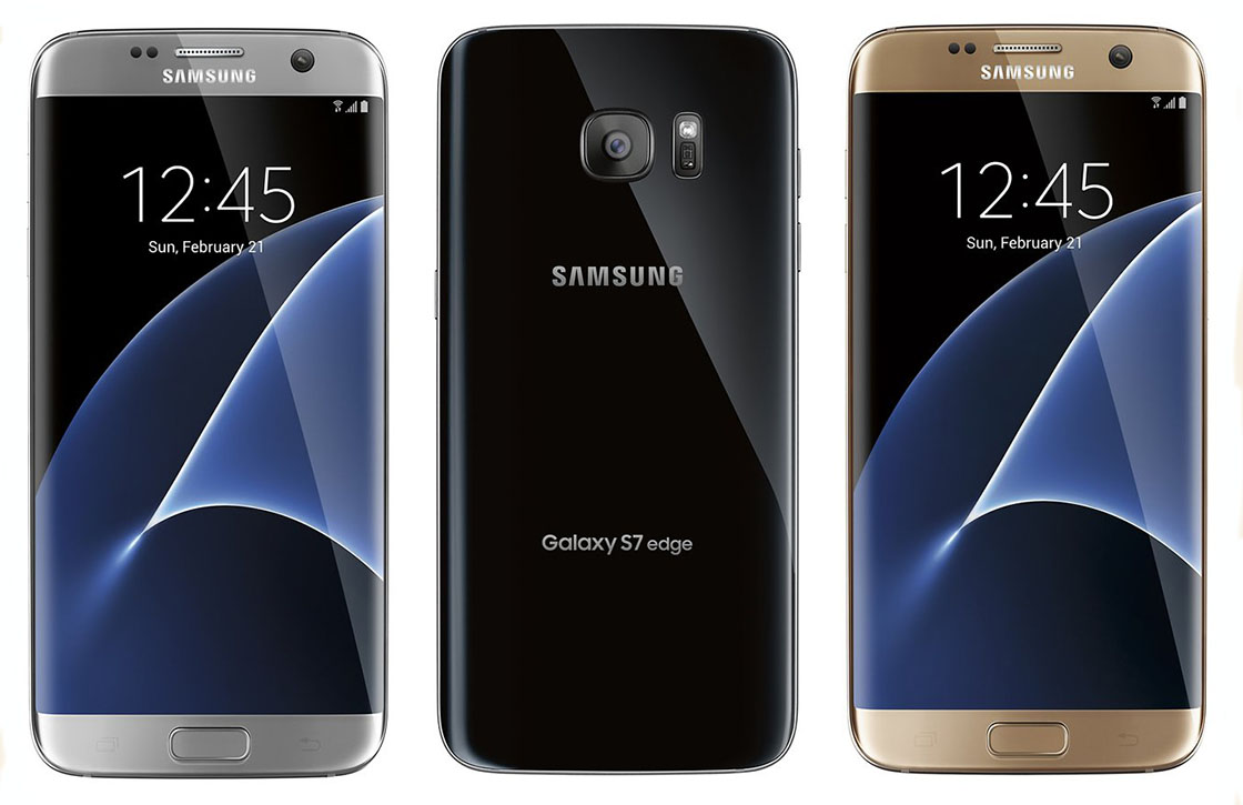'Renders tonen Galaxy S7 Edge in drie verschillende kleuren'