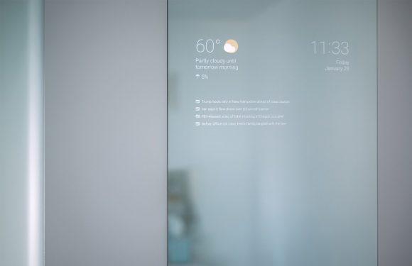 Foto's: Google-techneut maakt slimme badkamerspiegel met Android