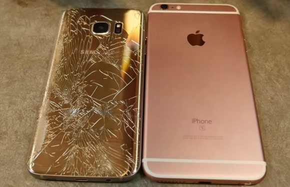 Galaxy S7 Edge legt het in droptest af tegen iPhone 6S Plus