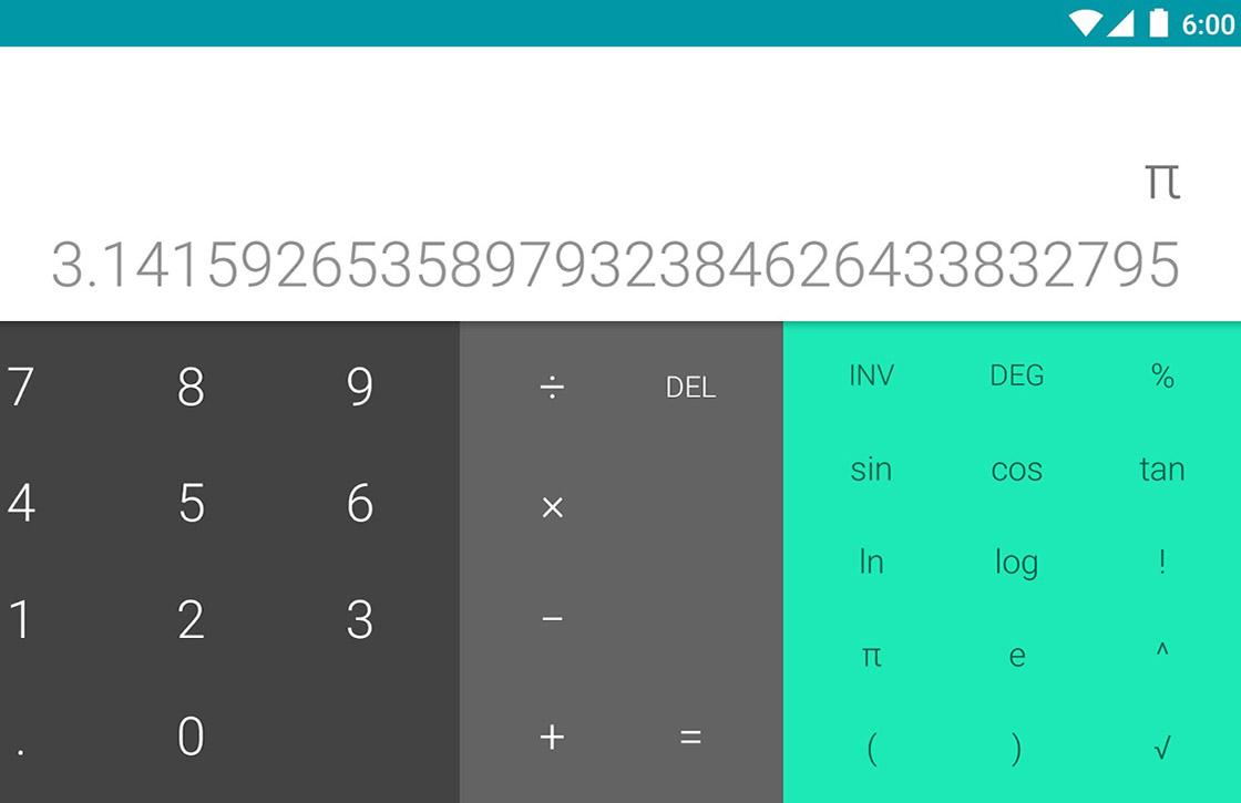 Calculator-app van Google nu beschikbaar in Play Store