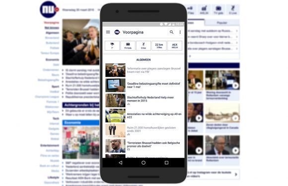 NU.nl-app volledig vernieuwd met Material Design