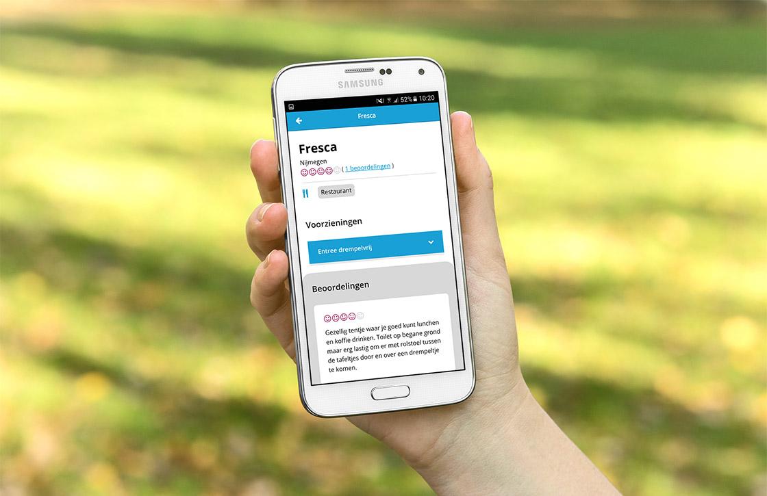 Ongehinderd-app: vind gemakkelijk (rolstoel)toegankelijke locaties