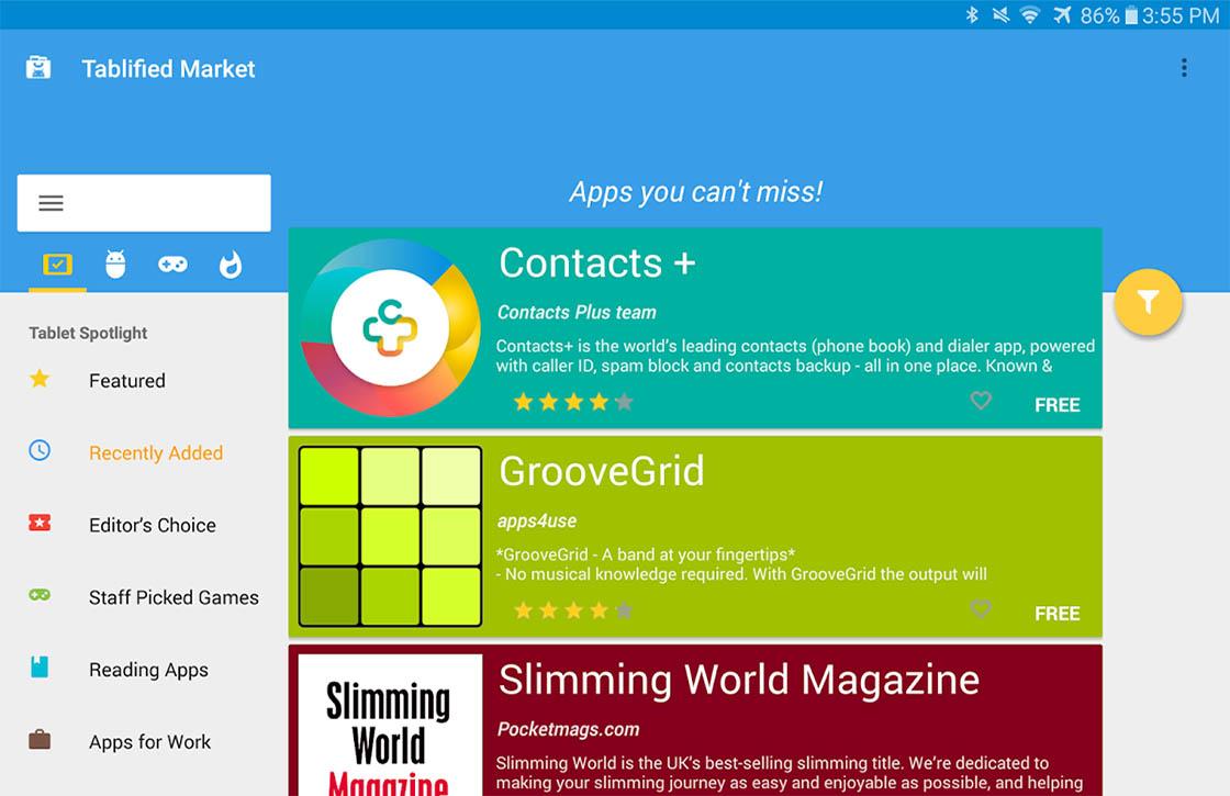Vind de beste apps voor je Android-tablet met Tablified Market