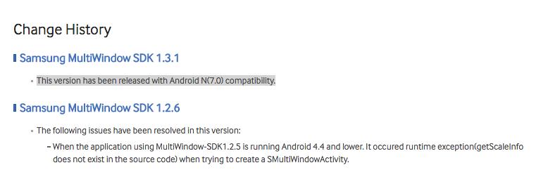 Android N versienummer