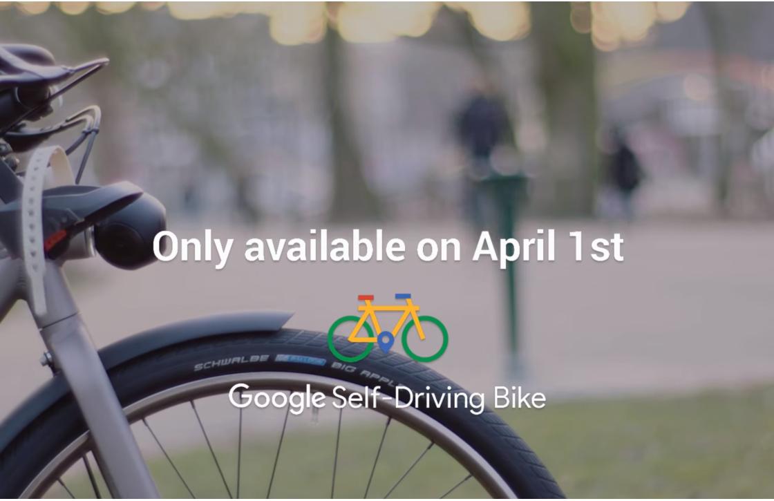 1 april: Google introduceert zelfrijdende fiets in Nederland