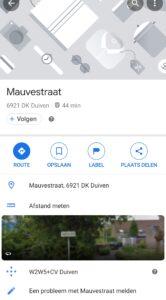 Google Maps afstand meten