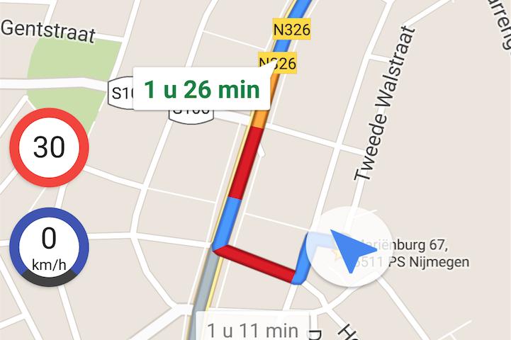 Houd je aan de snelheidslimiet met Velociraptor voor Google Maps