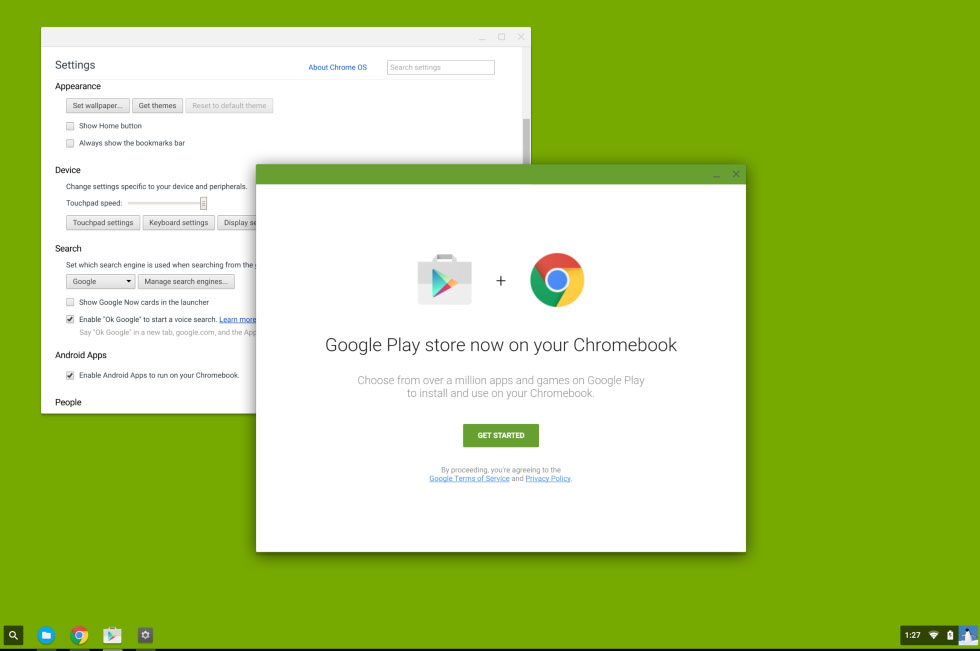 Chromebook Andorid-apps