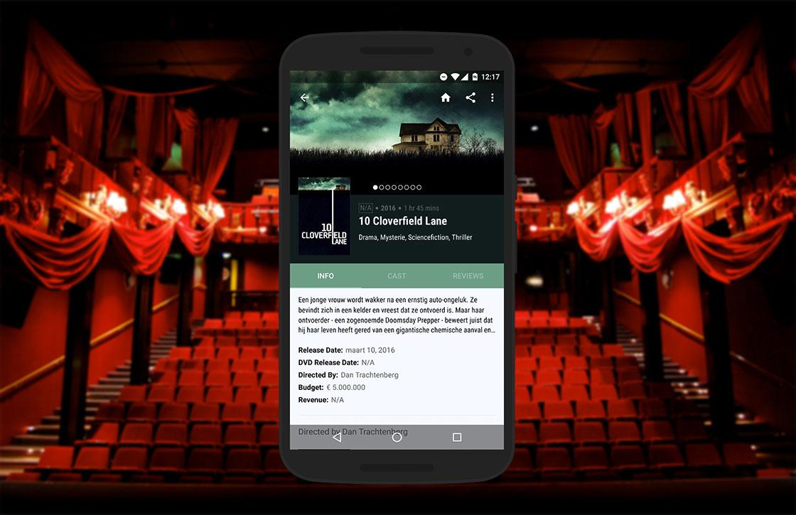 Cinematics: fraaie app om films te checken en ontdekken
