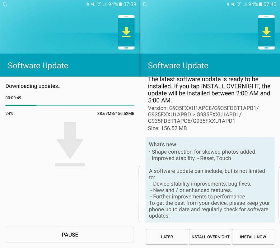 Galaxy s7-update