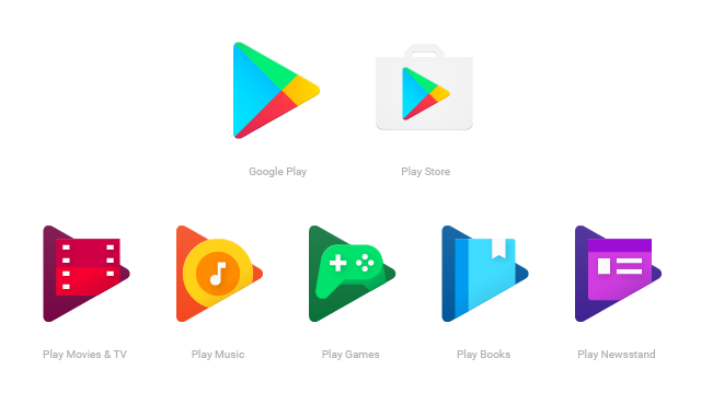 Google Play icoontjes