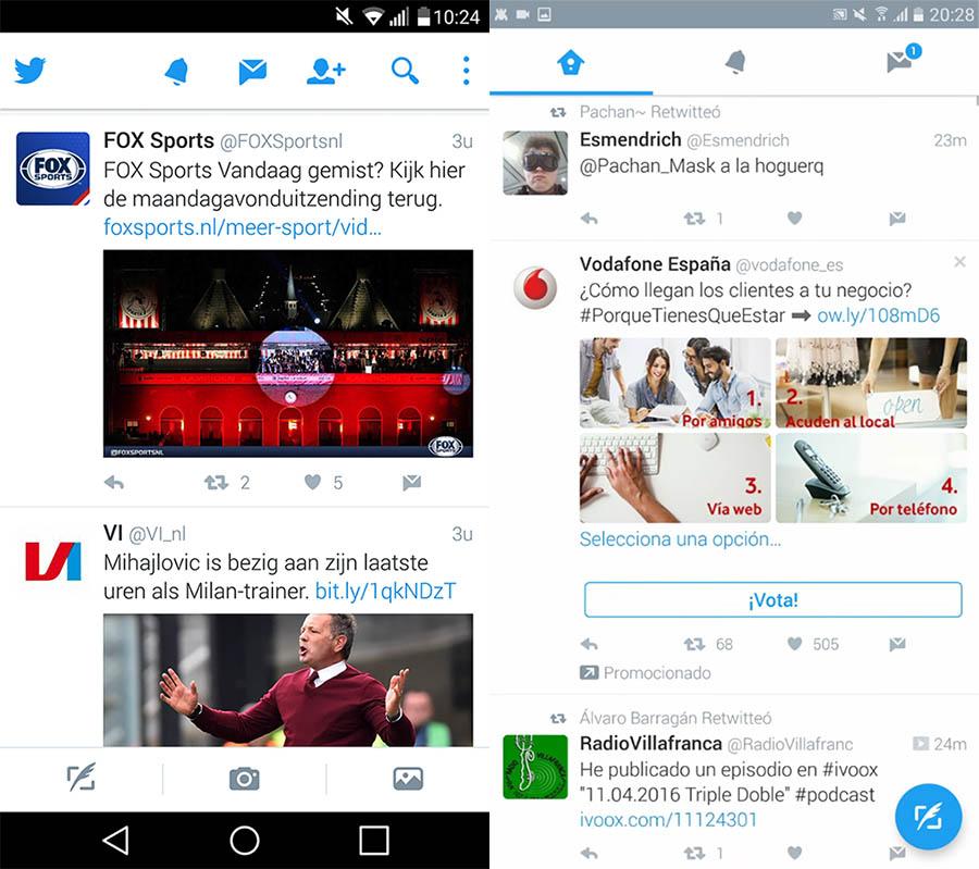 Twitter-app Material Design
