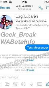 Facebook Messenger end-to-end-encryptie