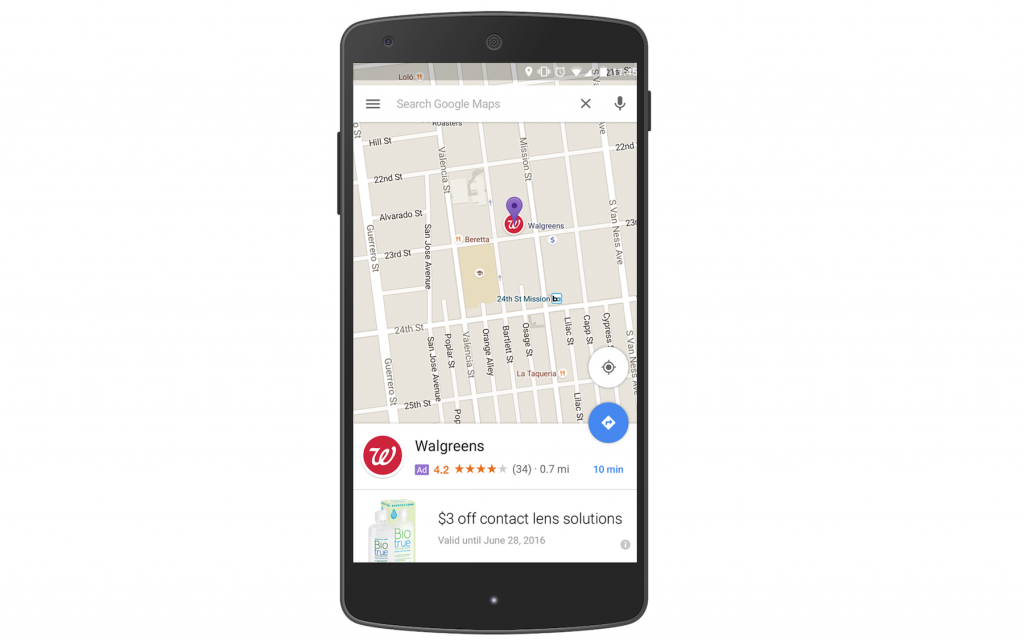 Google Maps reclames