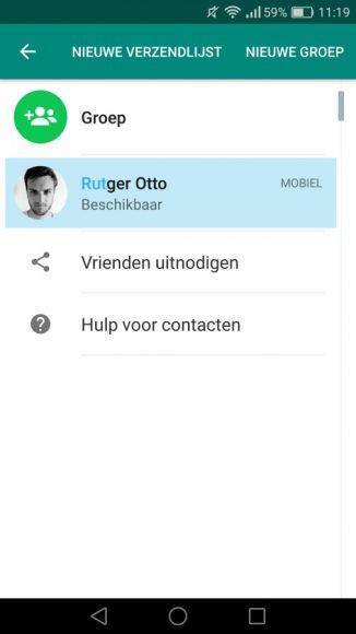 WhatsApp-functies