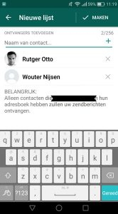 WhatsApp-functies