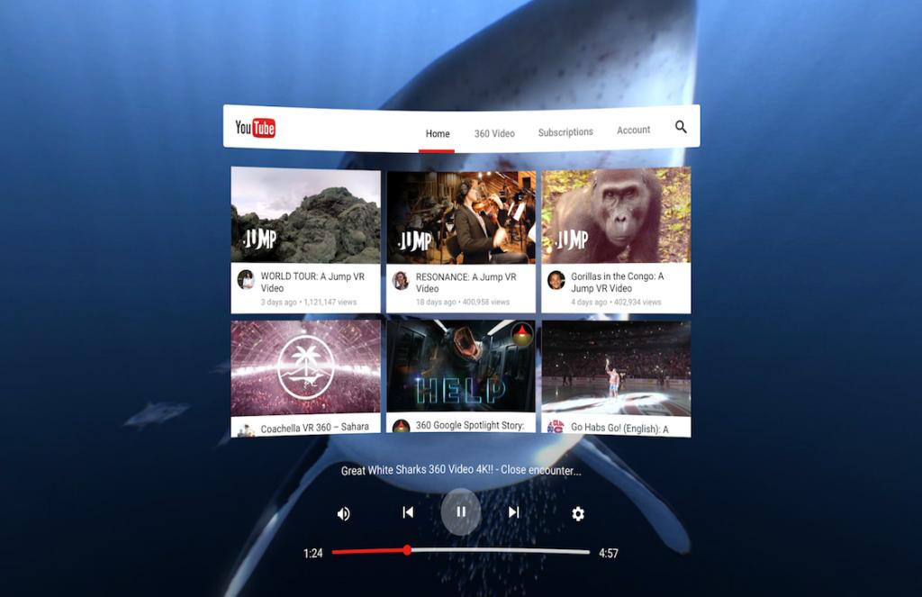 YouTube Daydream