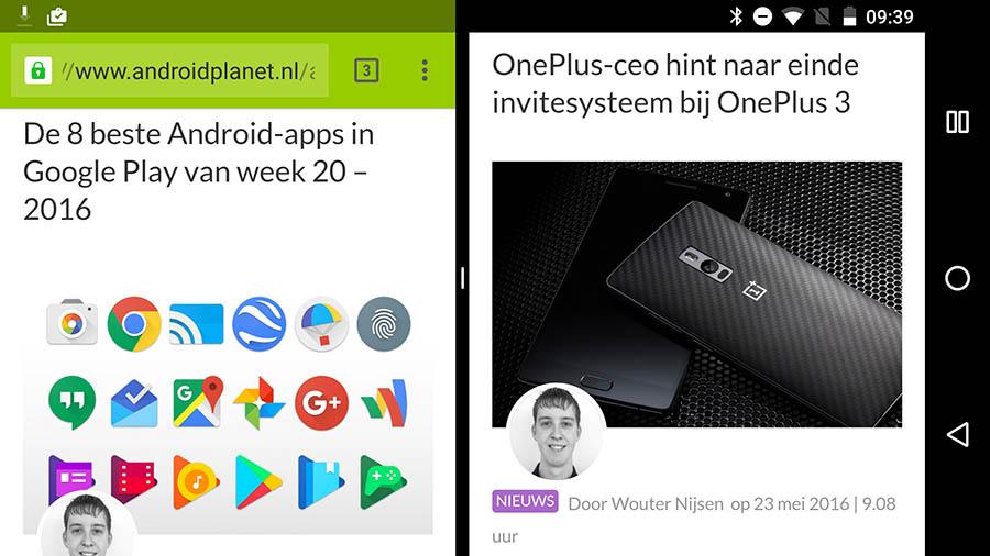 android n chrome multitasken