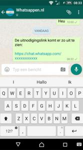 WhatsApp openbare groepsgesprekken