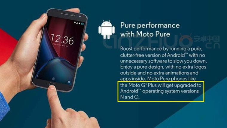 Moto G4 Plus Android N